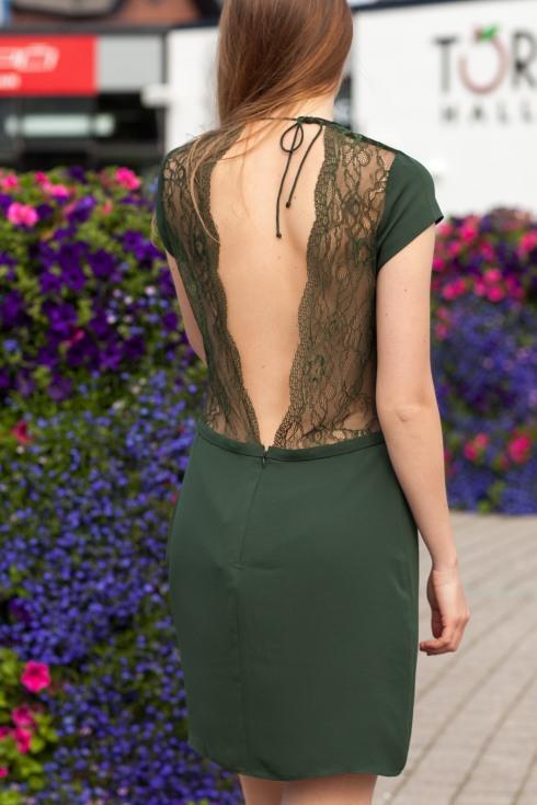 Icar grønn kjole bakside