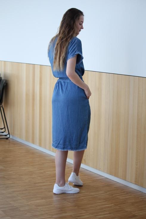 arnie dongeri lang kjole bak