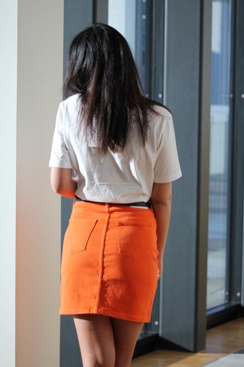 samsøe oransje skjørt bak2
