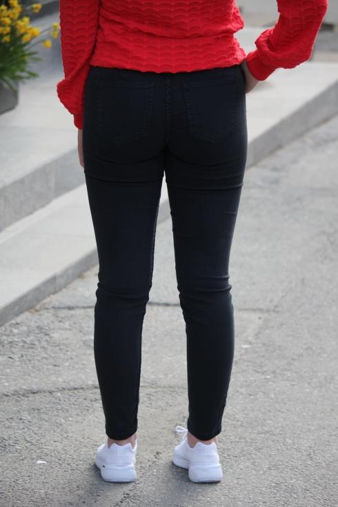 2nd one jeans med zip bak