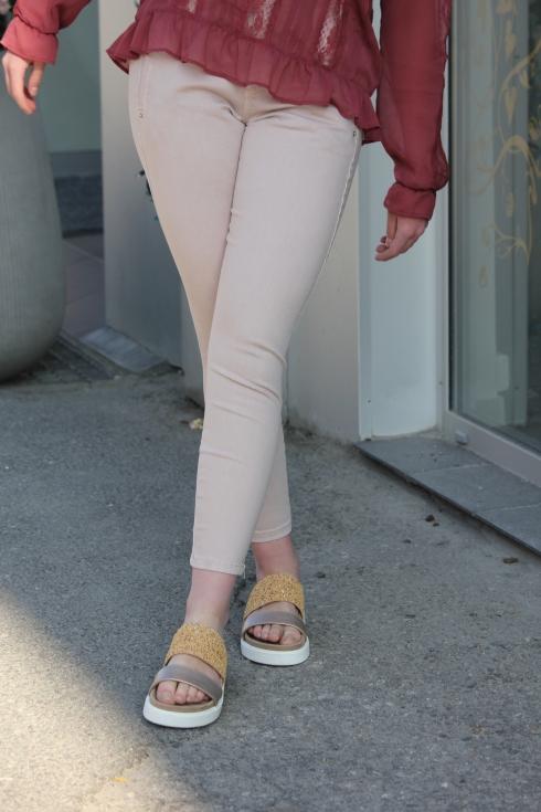 fu jolie beige zip bak