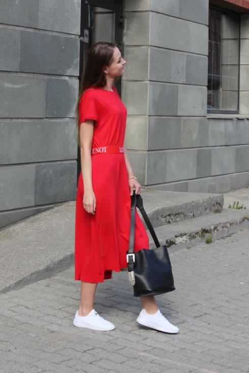 holz rød lang kjole side2