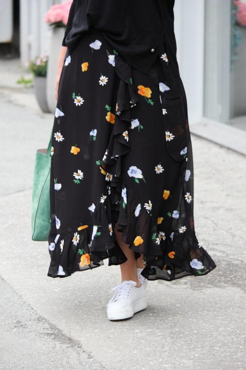 ganni sort wrap skirt for