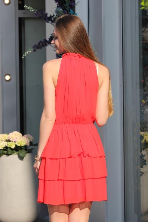 sf rød kjole bak